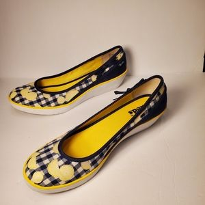 Keds Lemon Berry Wedges Gingham Print Size 8